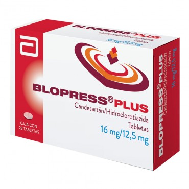 Blopress Plus 16 mg/ 12.5 mg Caja Con 28 Tabletas