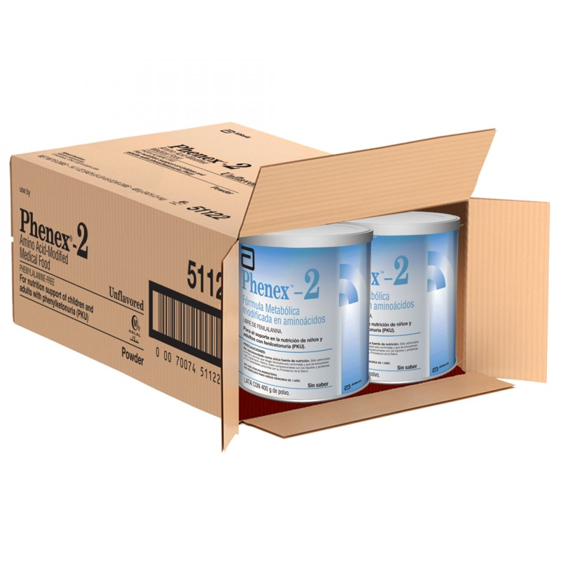 Phenex 2 Lata De 400 g De Polvo Caja Con 6 Unidades