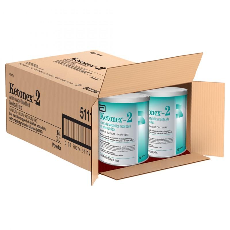 Ketonex 2 Lata Con 400 g De Polvo Caja Con 6 Latas