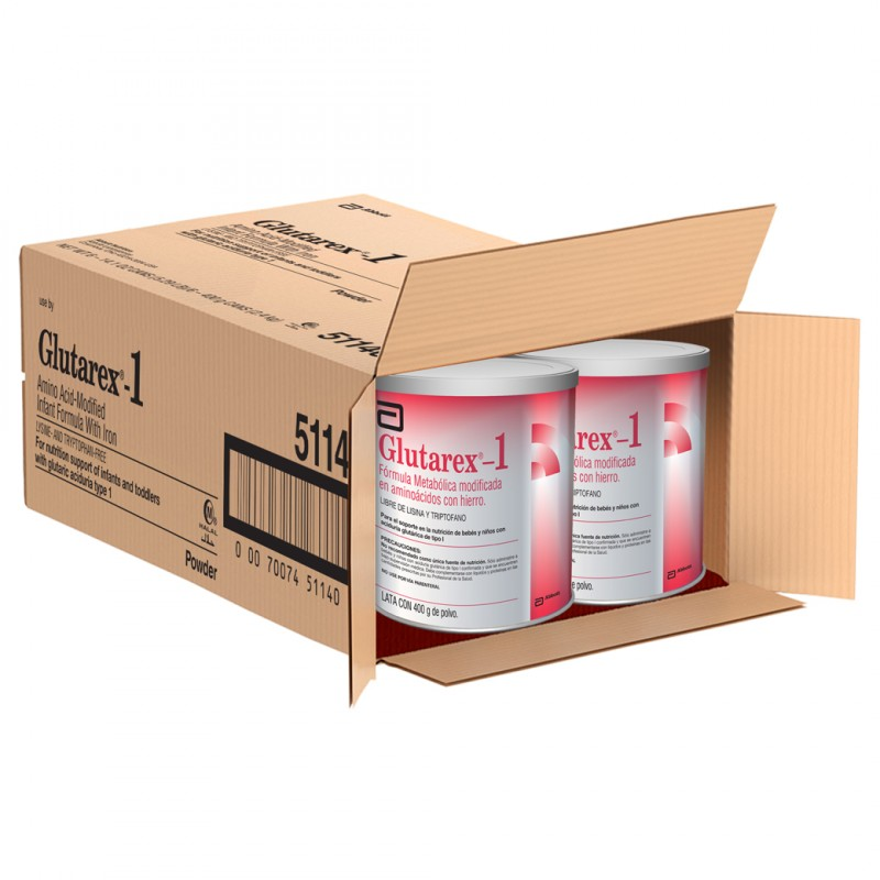 Glutarex 1 Lata De 400 g De Polvo, Unidad De Venta: Caja Con 6 Latas.
