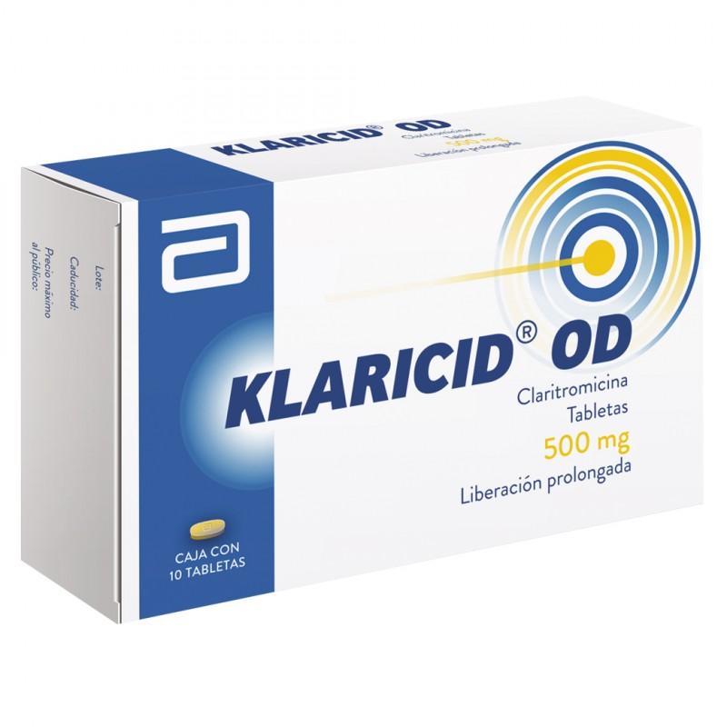 Klaricid OD 500 mg Caja Con 10 Tabletas - RX2