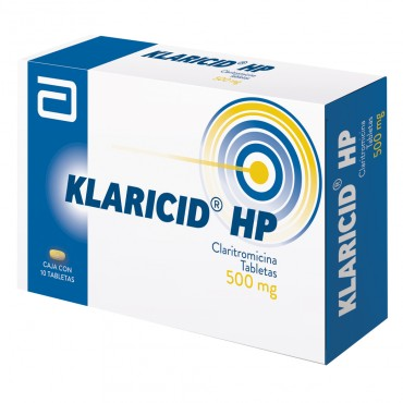 Klaricid HP 500 mg Caja con 10 Tabletas - RX2