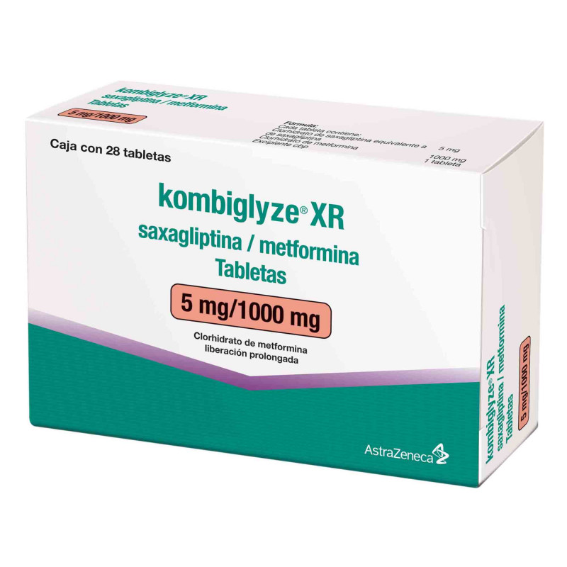 Kombiglyze XR  5MG/1000 28 Tabletas
