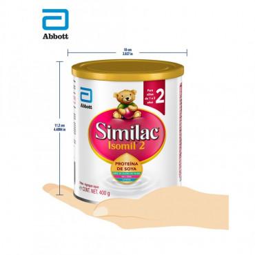 Isomil - Etapa 2, Formula Infantil a Base de Proteina de Soya para Niños de 1 a 3 Años - 400g