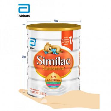 Similac Sensitive - Formula Infantil para Bebes Intolerantes a la Lactosa de 0 a 12 Meses - 850g