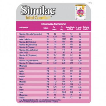 Similac Total Comfort - Etapa 2, Formula Infantil en Polvo de Facil Digestion - 1 a 3 años - 820g