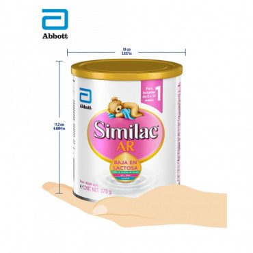 Similac AR - Formula Infantil Espesada Para Bebes con Reflujo Gastroesofagico Fisiologico - 375g