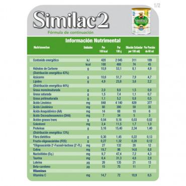 Similac - Etapa 2, Formula Infantil en Polvo para bebes de 6 a 12 Meses, Contiene DHA, HMO 850 g