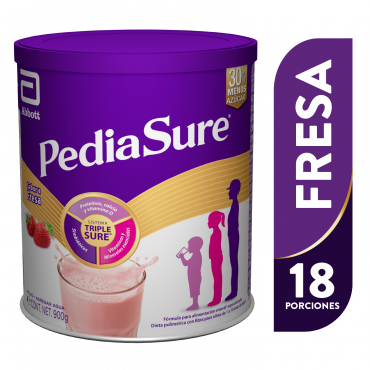 Pediasure Alimentacion Especializada en Polvo para Niños de 1 a 10 Años - Fresa - 900g