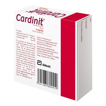 Cardinit 5mg/dia Caja Con 7 Parches