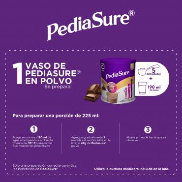 Pediasure Alimentacion Especializada en Polvo para Niños de 1 a 10 Años - Chocolate - 400g