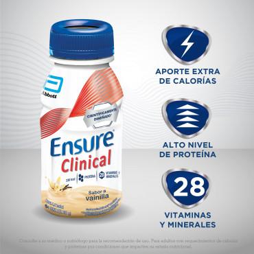 Ensure Clinical Alimentacion Especializada con Alta Cantidad de Calorias - Vainilla - 237 mL - 24 piezas