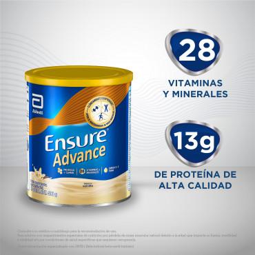 Ensure Advance Alimentacion Especializada en Polvo Unica con HMB - Vainilla - 400 g