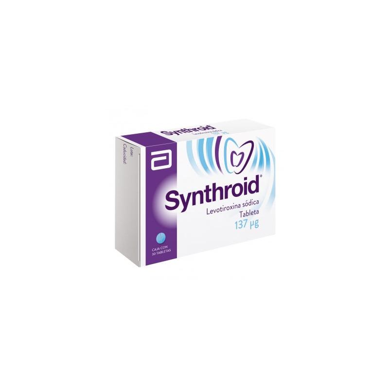 ¡Paga 1 lleva 2! Synthroid 137 mcg Caja Con 30 Tabletas