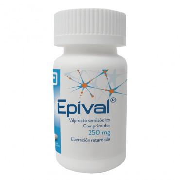 Epival 250 mg Frasco Con 30 Comprimidos