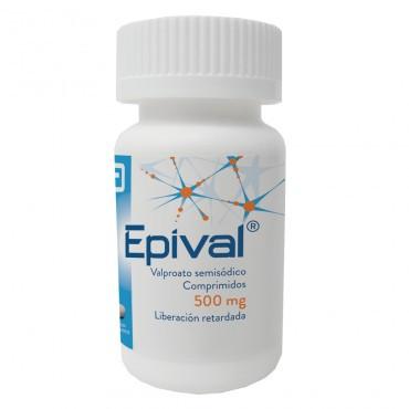 Epival 500 mg  Frasco Con 30 Comprimidos