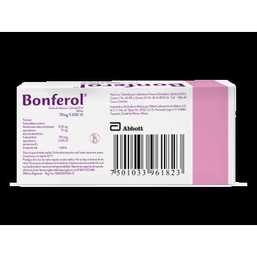 Bonferol 70mg/5,600 UI, Caja con 4 tabletas