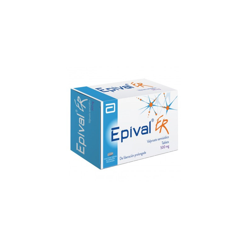 Epival ER 500 mg Caja Con 60 Tabletas
