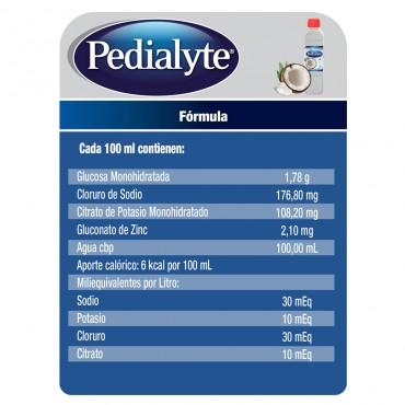 Pedialyte - 30 mEq Solucion Oral para Deshidratacion por Calor e Insolacion - Coco - 500 mL - 12 piezas
