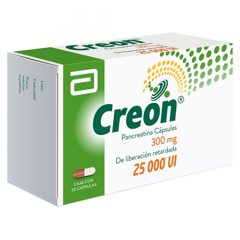 Creon 300 mg / 25000 Ui Caja Con 50 Capsulas