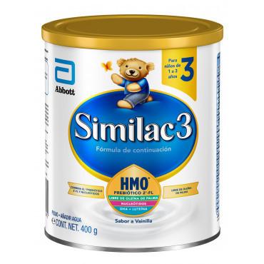 Muestra - Similac - Etapa 3, Fórmula Infantil con Hierro para Niños de 1 a 3 Años, Contiene DHA, HMO - 400g