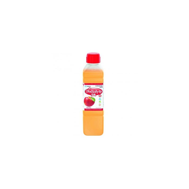 Pedialyte - 60 mEq Solucion Oral  para Deshidratacion por Vomito y Diarrea - Manzana - 500 mL - 12 piezas