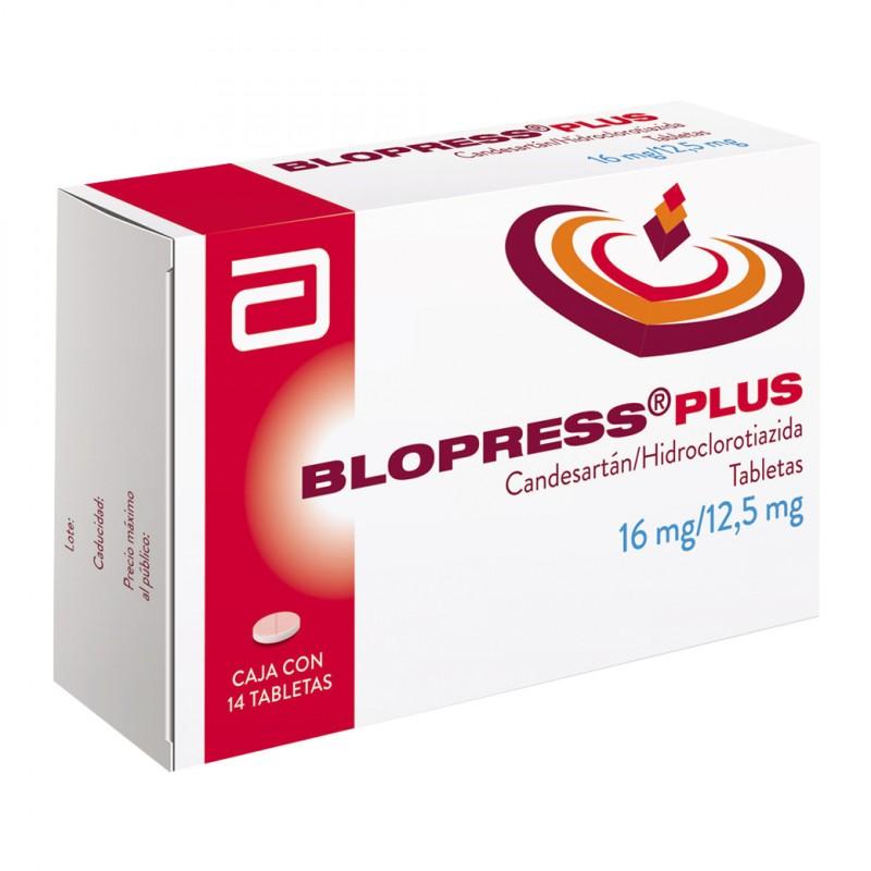 Blopress Plus 16 mg / 12.5 mg Caja Con 14 Tabletas