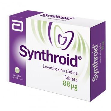 Synthroid 88 mcg Caja con 30 Tabletas