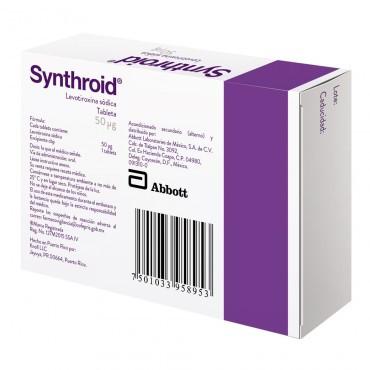 Synthroid 50 Mcg Caja Con 30 Tabletas