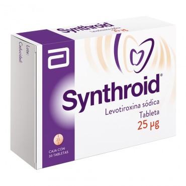 Synthroid 25 Mcg Caja Con 30 Tabletas