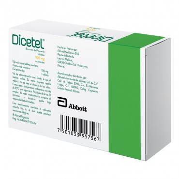 Dicetel 100 mg Caja Con 14 Tabletas Recubiertas