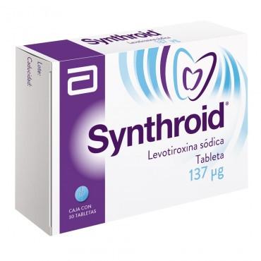 Synthroid 137 mcg Caja Con 30 Tabletas