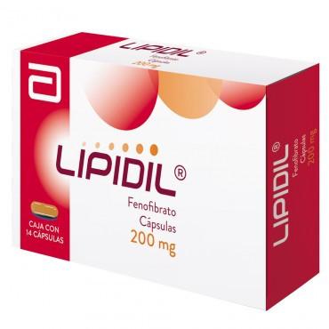 Lipidil 200 mg Caja Con 14 Capsulas
