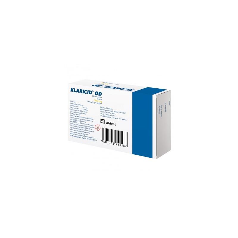 Klaricid OD 500 mg Caja Con 7 Tabletas