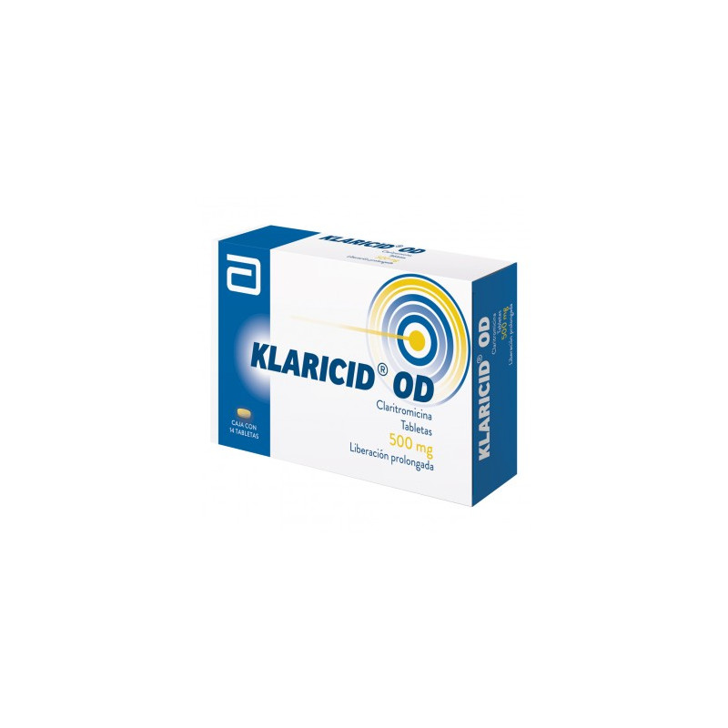 Klaricid OD 500 mg Caja Con 14 Tabletas -RX2