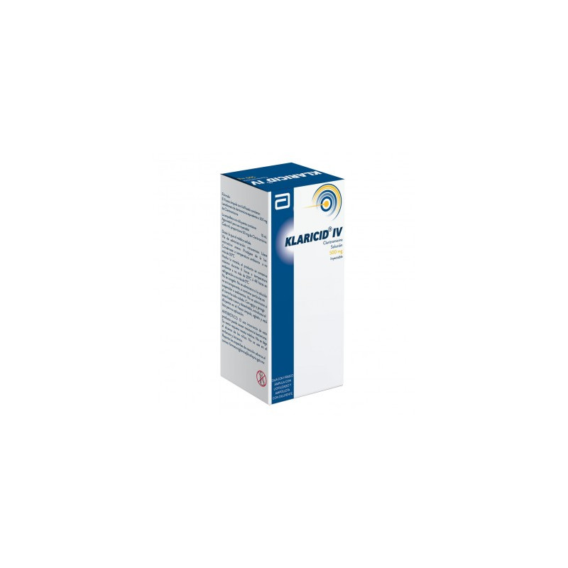 Klaricid I.V. 500 mg Caja Con Frasco Ámpula Con 30 mL -RX2