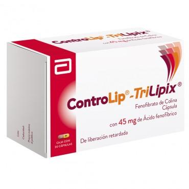 Controlip-Trilipix 45 mg Caja con 30 Capsulas