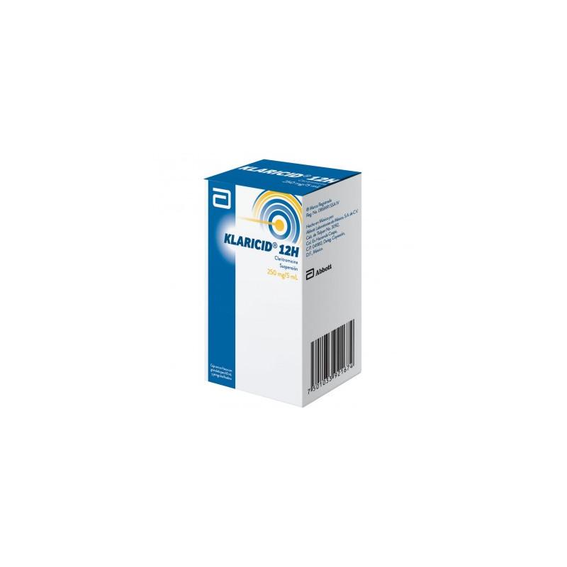 Klaricid 12 H Suspensión 250 mg Caja Con Frasco Con Granulo Para 60 mL - RX2