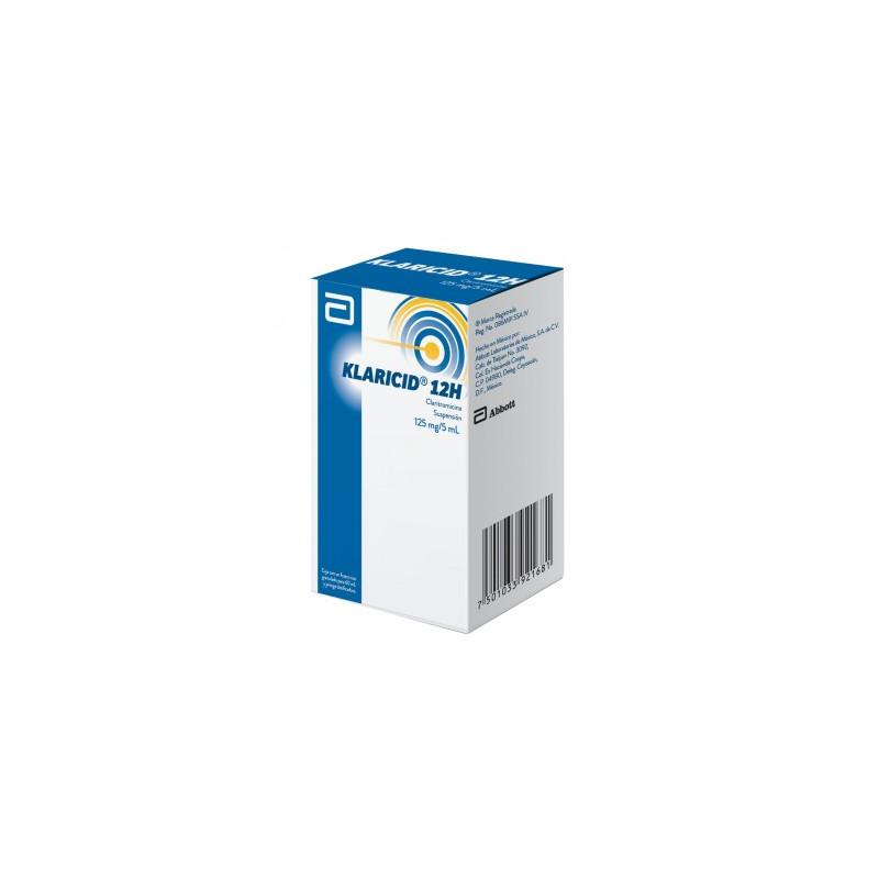 Klaricid 12H 125mg/5mL Caja Con Frasco Granulado Para 60mL -RX2