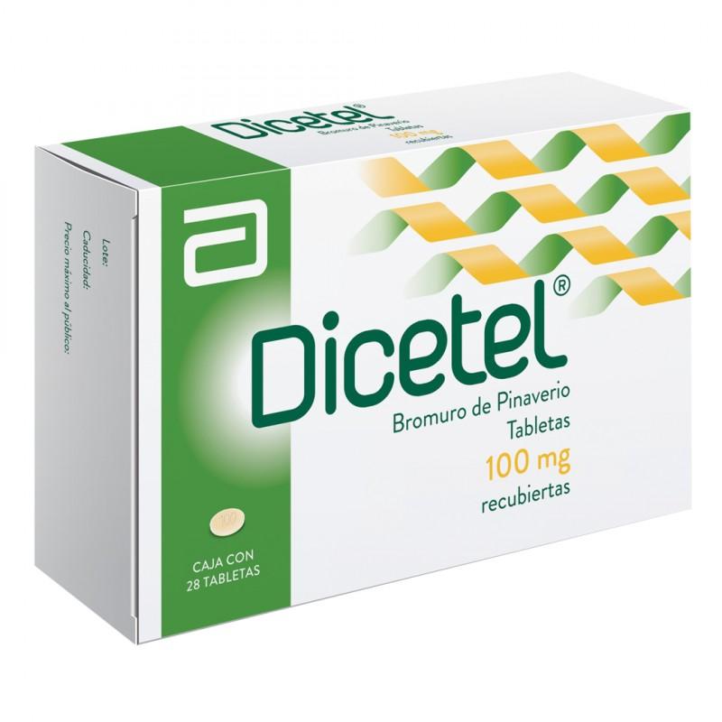 Dicetel 100 Mg Caja Con 28 Tabletas Recubiertas