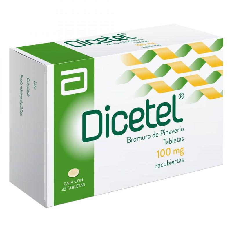 Dicetel 100 mg Caja Con 42 Tabletas Recubiertas
