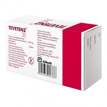 Tevetenz 600 mg Caja Con 28 Tabletas