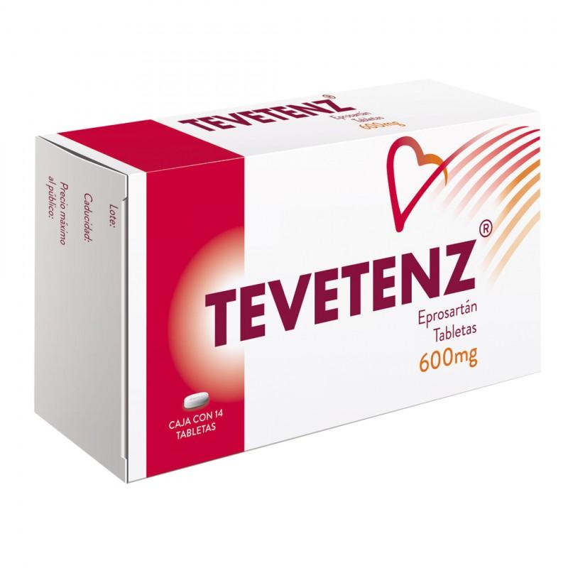 Tevetenz 600 mg Caja Con 14 Tabletas