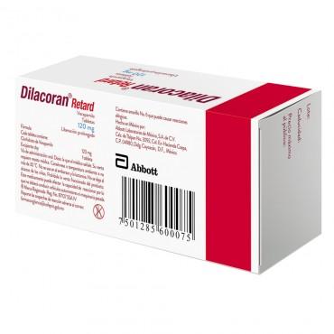 Dilacoran Retard 120 mg Caja Con 30 Tabletas