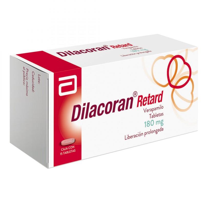 Dilacoran Retard 180 mg Caja Con 15 Tabletas