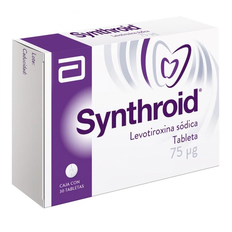 Synthroid 75 Mcg Caja Con 30 Tabletas