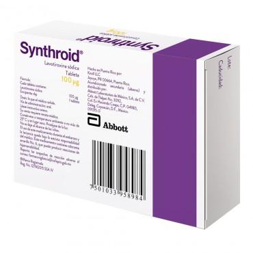 Synthroid 100 Mcg Caja Con 30 Tabletas