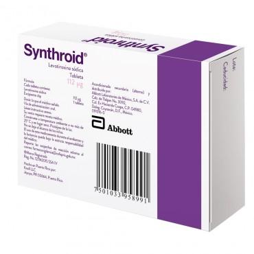 Synthroid 112 mcg Caja Con 30 Tabletas