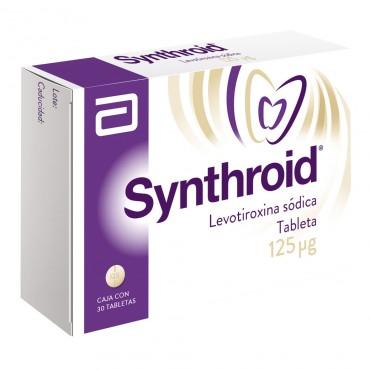 Synthroid 125 mcg Caja Con 30 Tabletas