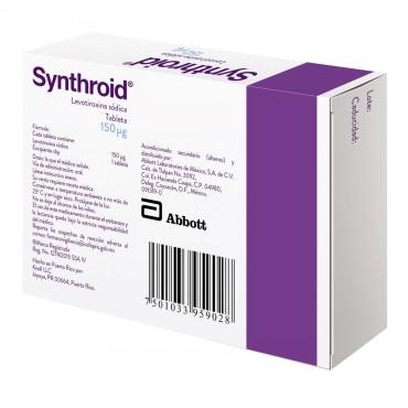 Synthroid 150 mcg Caja Con 30 Tabletas